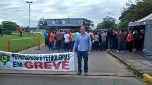 Petroleiros em greve