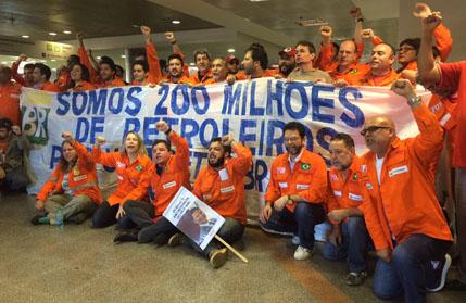 Petroleiros protestam
