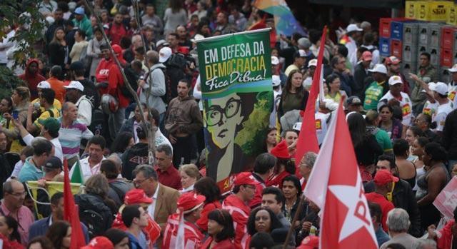 Não ao golpe Dilma