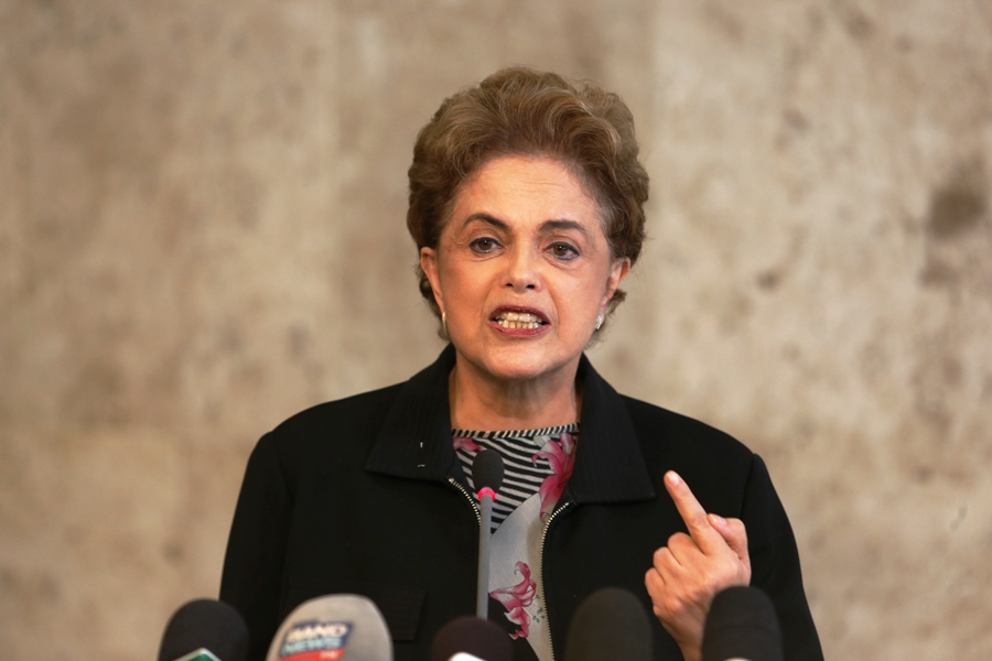 Brasília- DF 11-03-2016 Presidenta, Dilma e ministro, Aloizio Mercadante, durante coletiva. Palácio do Planalto   Foto Lula Marques/Agência PT