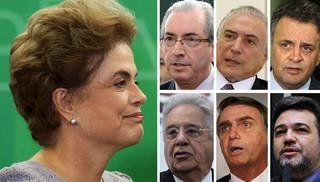 Dilma e golpistas