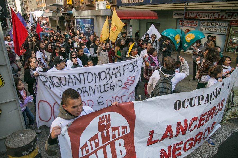 Lanceiros protestam