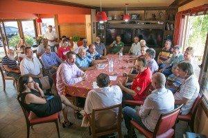 Araujo recebe sindicalistas