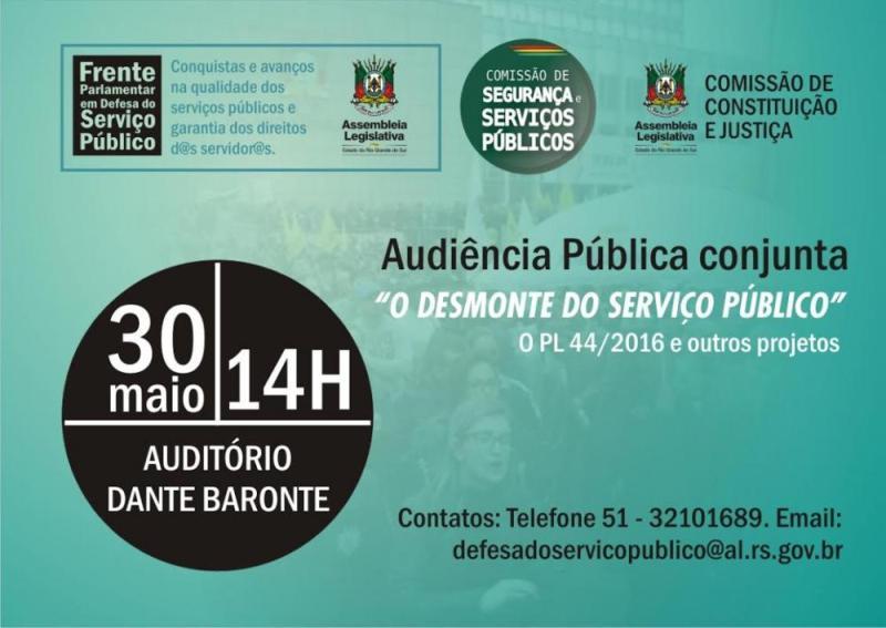 Audiência pública conjunta