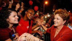 Dilma com o povo