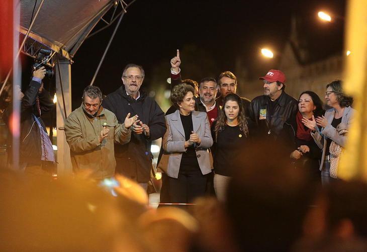 Claudir com Dilma