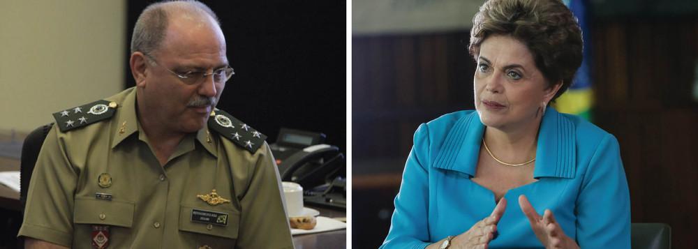 Dilma e general