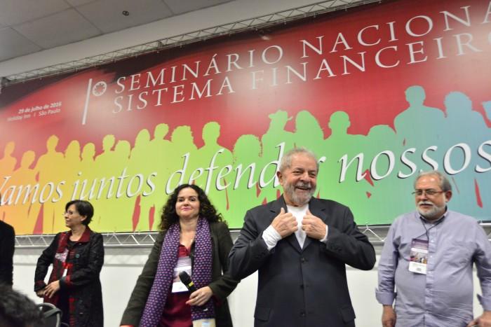 Lula com bancários