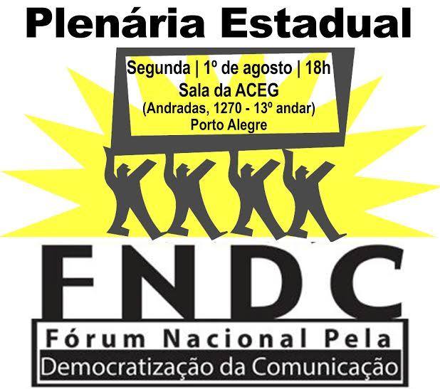 Plenária Estadual FNDC