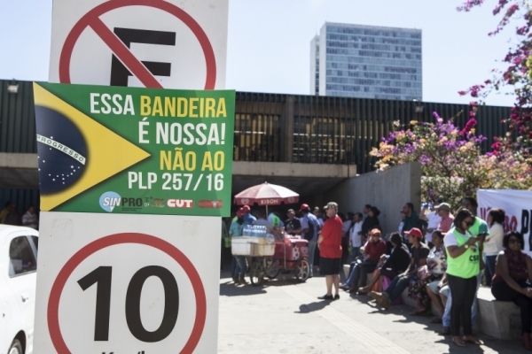 Protesto contra PL 257