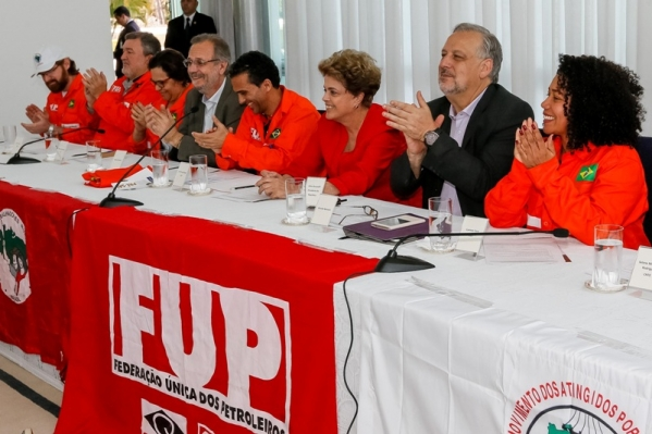 Dilma com a FUP