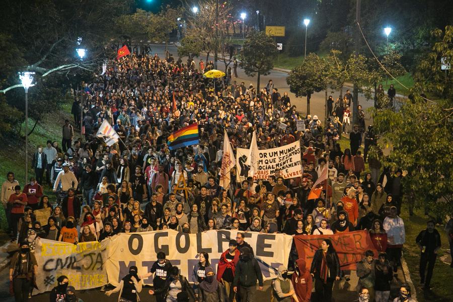 Protesto na Goethe