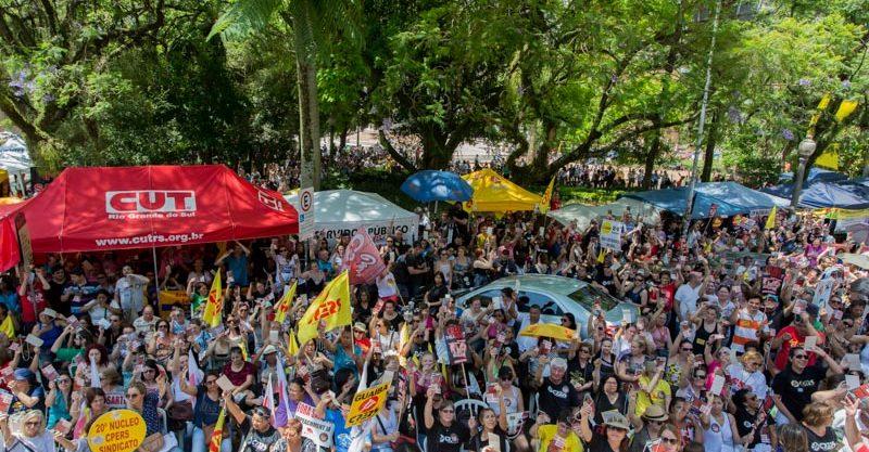 Mobilização na Praça
