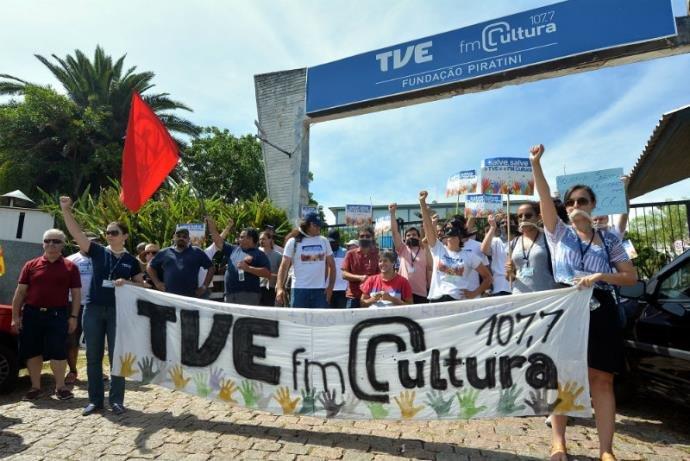 Protesto na TVE
