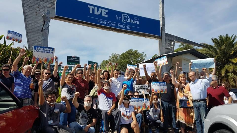Protesto na TVE1
