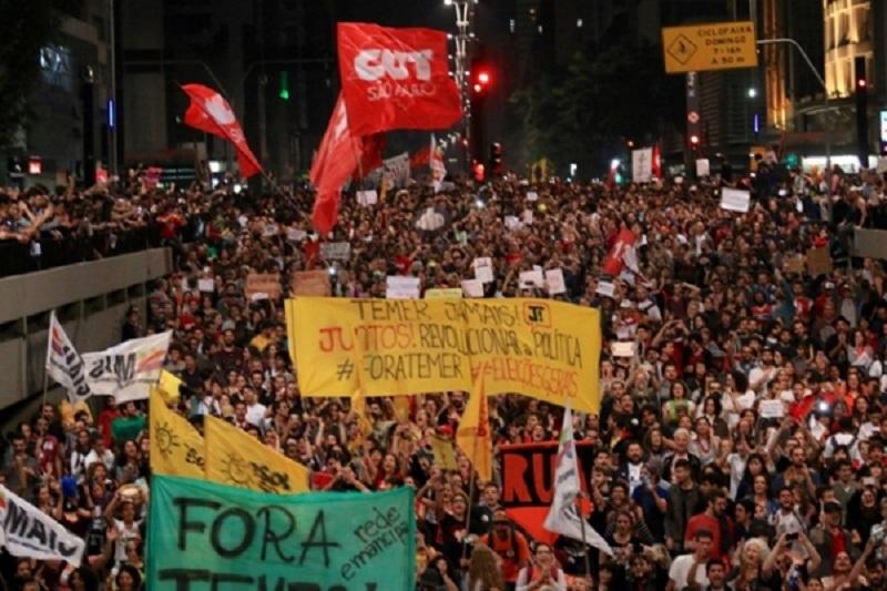 Temer protesto