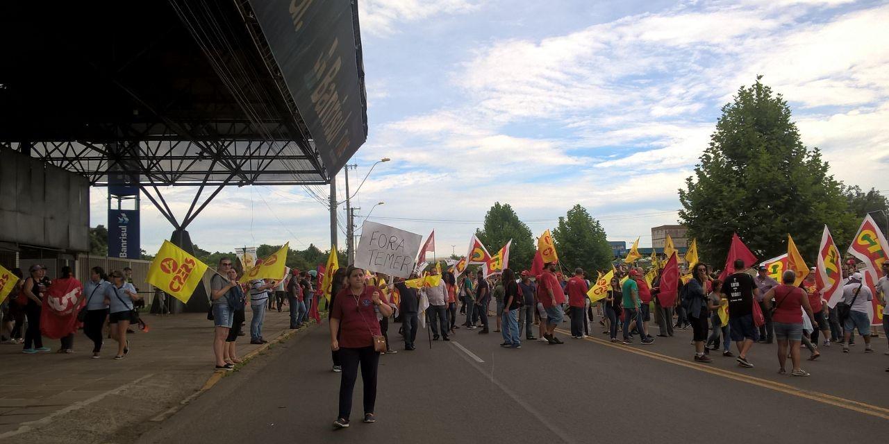 Protesto em Esteio