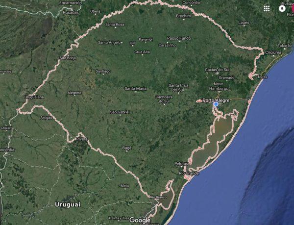 Mapa do RS Sindifisco