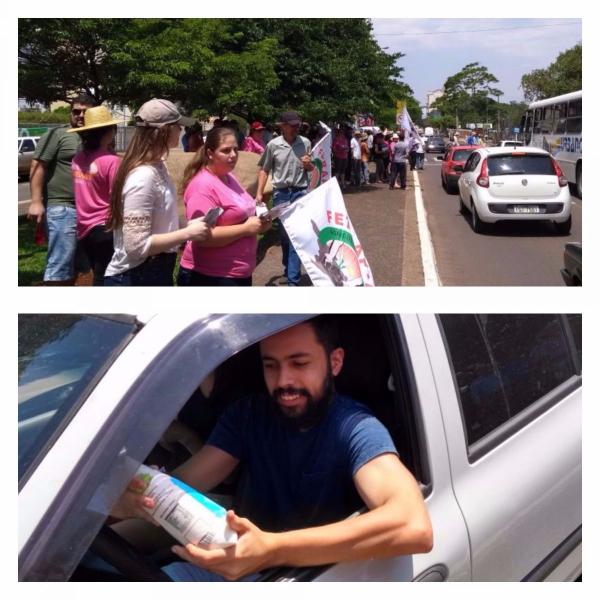 Leite protesto
