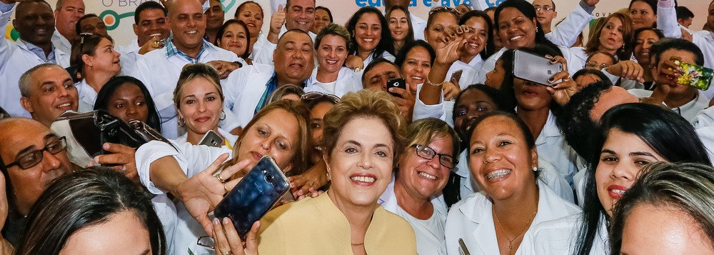 Dilma e mais médicos