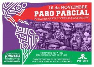 chamada para a greve no uruguai