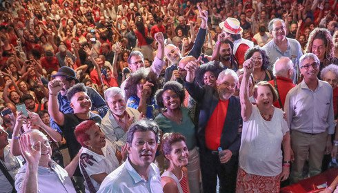 Lula com povo