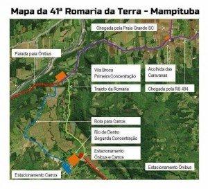 Mapa da romaria