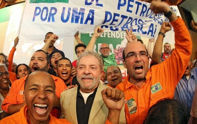 Lula com petroleiros