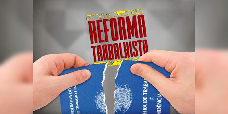Reforma trabalhista carteira rasgada