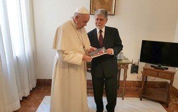 Papa com Celso Amorim
