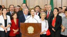 Dilma falando