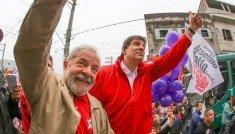 Lula com Haddad caminhando
