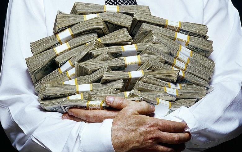 Dinheiro amontoado