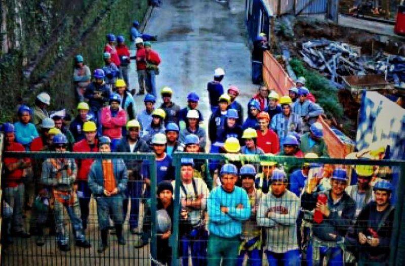 Trabalhadores parados