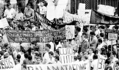 Protesto na ditadura