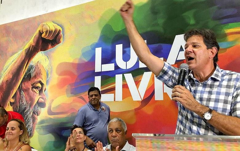 Haddad no Lula livre