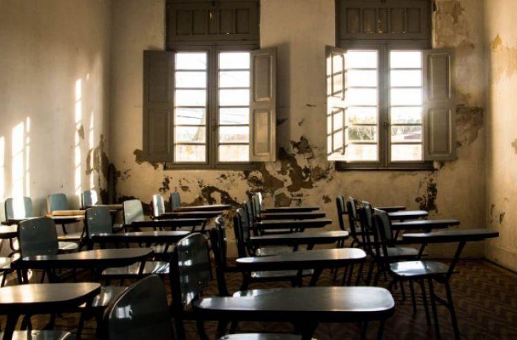 Sala de aula detonada