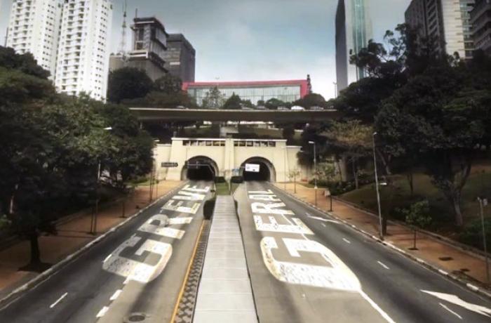 Greve geral no túnel