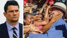 Moro e Lula com o povo