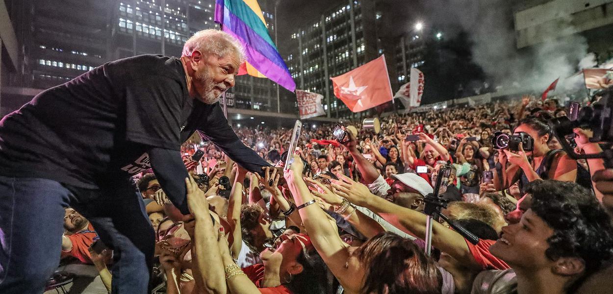 Lula com a massa