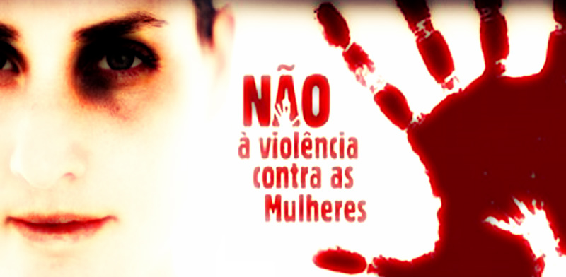 Não à violência contra mulheres