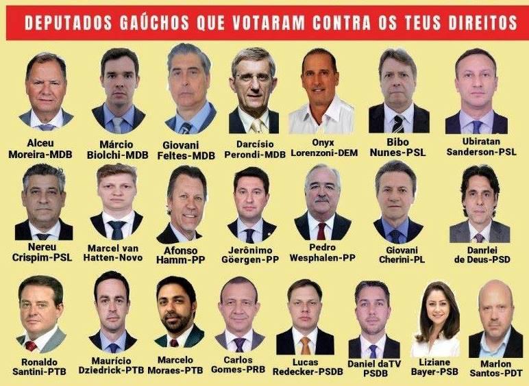 Deputados traidores1