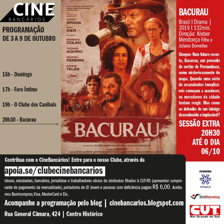 CineBancários - programação 3 a 9.10