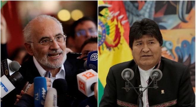 Morales e Carlos Mesa