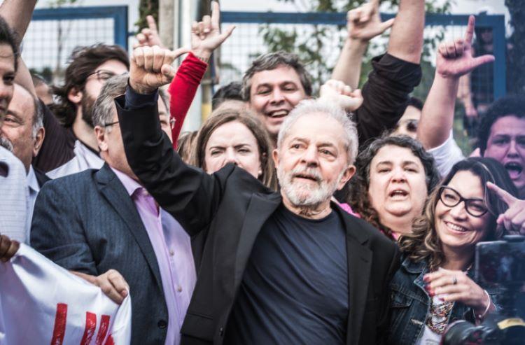 Lula após prisão