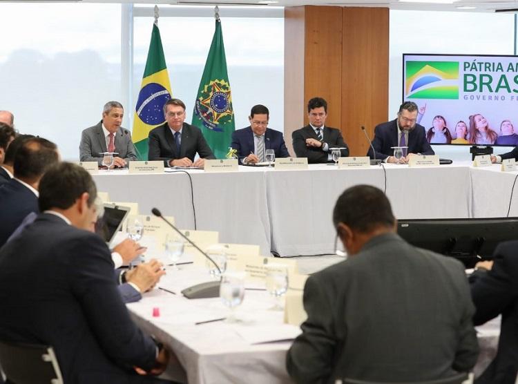 22/04/2020 Reunião com Vice-Presidente da República, Ministros e Presidentes de Bancos