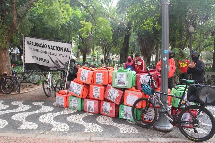 Entregadores em Porto Alegre