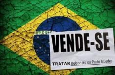Bandeira do Brasil e vende-se