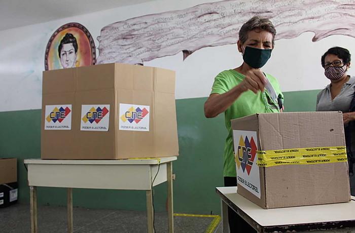 Votando na Venezuela