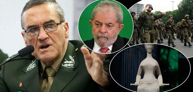 Lula e militares